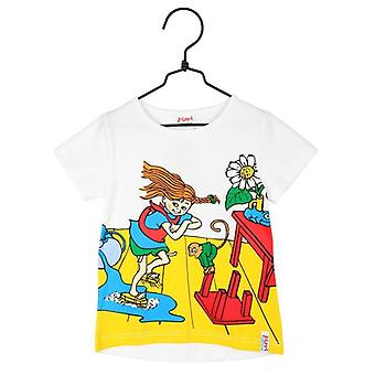 Pippi Long stocking Cleaning Day t-shirt white