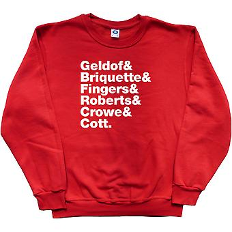 The Boomtown Rats Line-Up Red Sweatshirt