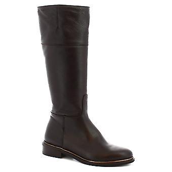 ليوناردو أحذية النساء & ق الأحذية المصنوعة يدويا البني البني الأسود الجلود الجانب الرمز البريدي