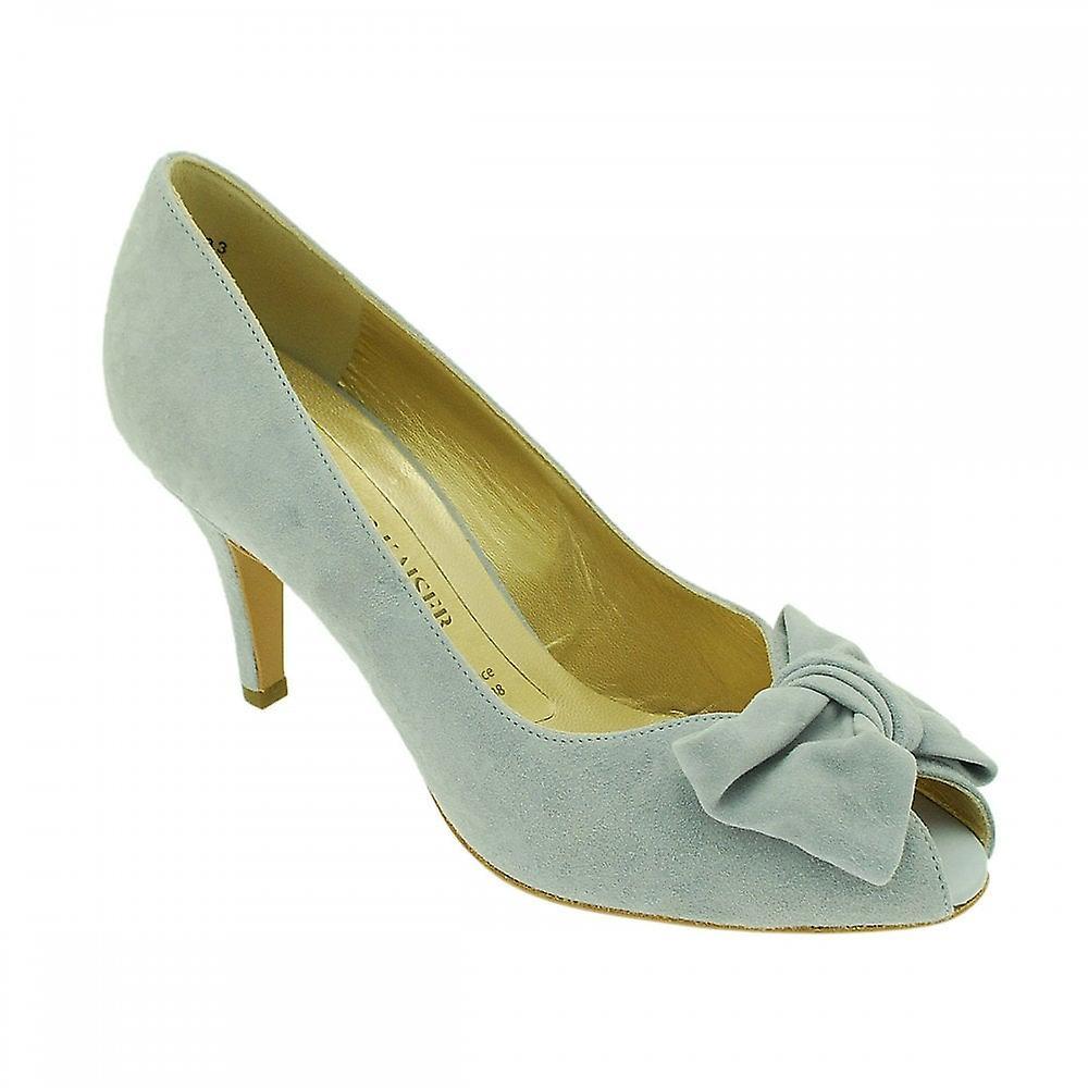 Peter Kaiser Samos Blue Suede Peep Toe Court Shoes R7JAl