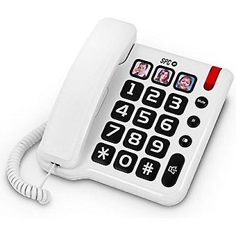 Telefon fix pentru RCP pentru vârstnici 3294 Alb