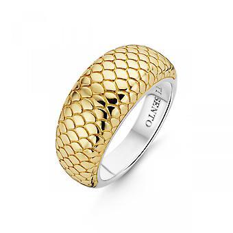 Ti Sento Indigo indtryk 12162SY ring-sølv guld ring dyr mønster kvinde
