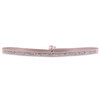 Bracelet Les Interchangeables A35894 - Bracelet Tissu Beige Cristaux Swarovski Femme
