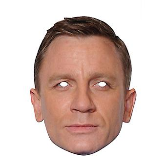 Daniel Craig Celebrity James Bond Card Party Maschera Abito Fancy