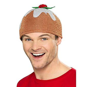 Weihnachten Pudding Hut Adult Brown