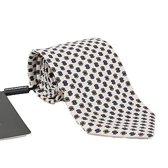 Dolce & Gabbana White Silk Pattern Tie