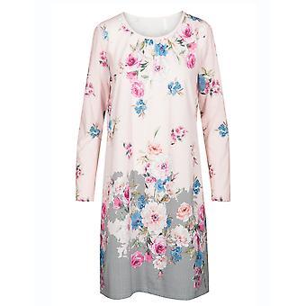 Rösch 1193549-16412 Women's New Romance Pink Floral Cotton Nightdress
