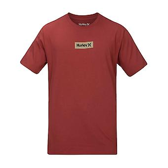 Hurley O & O kleine Box T-Shirt Kurzarm T-Shirt in Zeder