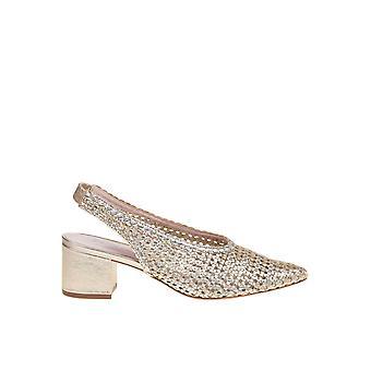 Schutz S2059800310007 Women's Gold Leather Sandals