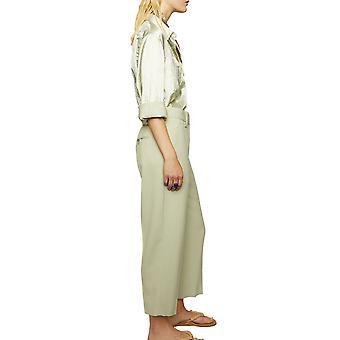Acne Studios Ak0208abi Damen's Grüne Polyester Hose