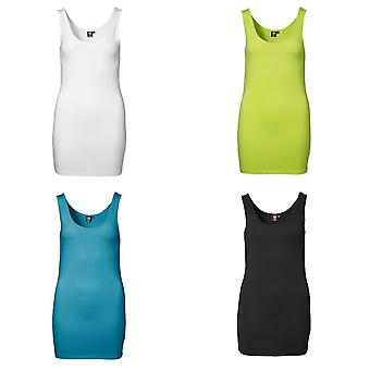 ID Womens/Ladies Extra Long Fitted Stretch Vest Top