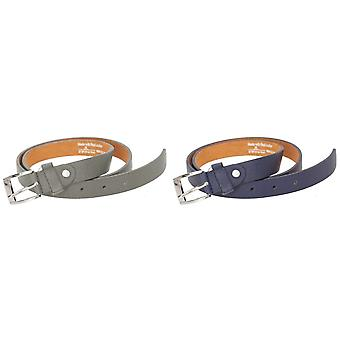 Forest Mens Thin Real Leather Belt
