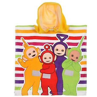 Teletubbies girls hooded towel poncho yellow