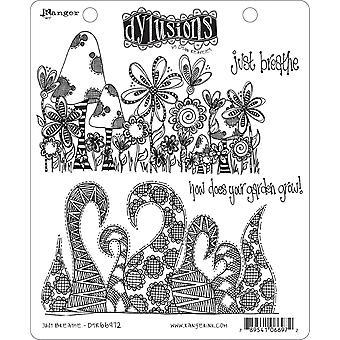 "Dyan Reaveley's Dylusions Cling Stamp 8.5""X7"" - Just Breathe"
