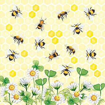 Ambiente 3 Ply Paper Napkins, Bees Joy