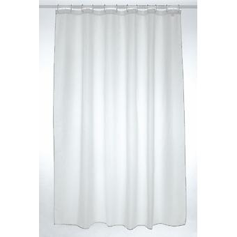 White Plain Polyester Shower Curtain 180 x 200cm
