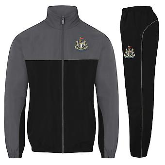 Newcastle United FC Official Football Gift Mens Jacket & Pants Tracksuit Set