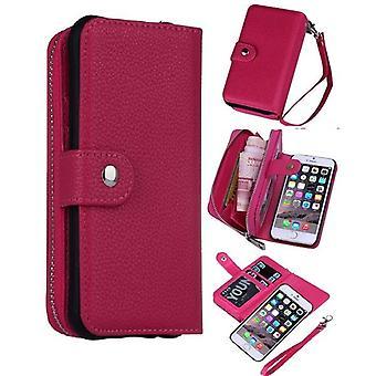 iPhone 6 Plus/6s pluss magnetisk lommebok veske-rosa