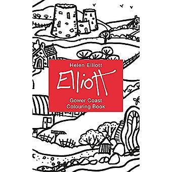Helen Elliott Concertina Colouring Book - Gower Coast by Helen Elliott