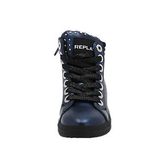 Replay GBZ16.000.0020S Kids Girls Boots Blue Lace-Up Boots Winter