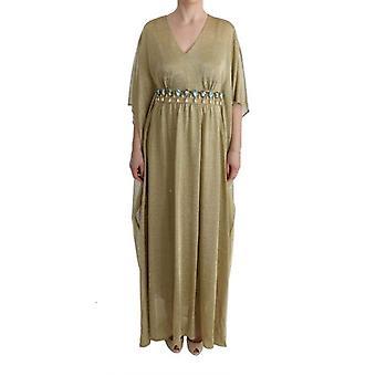 فستان دولتشي & اللون الذهبي وردي طويل ازرق كريستال-SIG6230320