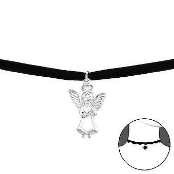 Szög - 925 Sterling Ezüst + Bársony Chokers - W33986x