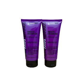 Sexy Hair Smooth Encounter Blow Dry Extender Cream 3.4 OZ Set of 2