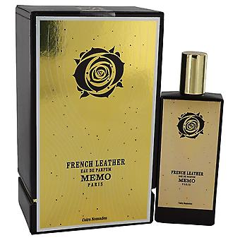 French Leather Eau De Parfum Spray (Unisex) By Memo 2.5 oz Eau De Parfum Spray