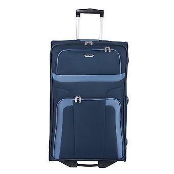 travelite Orlando Trolley L, 2 rollen, 73 cm, 80 L, blauw