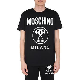 Moschino 070670401555 Männer's schwarze Baumwolle T-shirt
