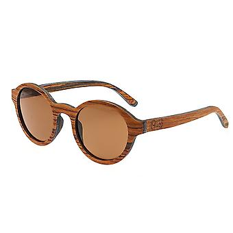 Earth Wood Maho Polarized Sunglasses - Sandlewood/Brown