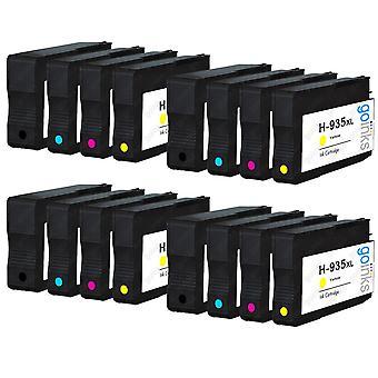 4 yhteensopivaa sarjaa, joissa on 4 HP 934 -hp-mustekasettia (HP 934XL & 935XL)