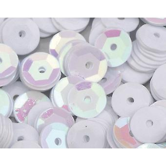 6mm White Round Cupped Sequins - 4000pk