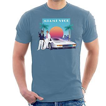 Miami Vice zonsondergang mannen ' s T-shirt