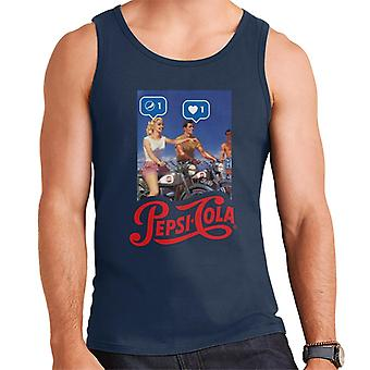 Pepsi Cola Be Sociable Motorcycle Men's Vest