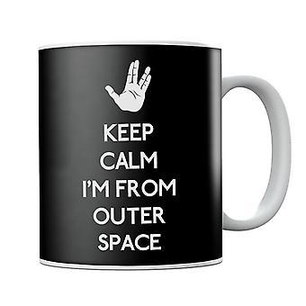 Mantenere calmo spazio esterno Start Trek Mug