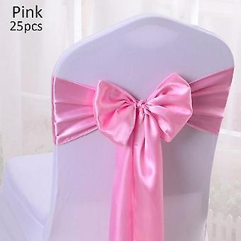 Satin Chair Sashes - Bow Tie Sash Band For Banquet Wedding Chair Decoration