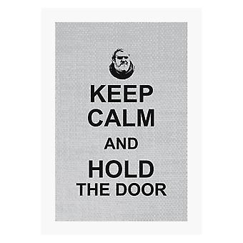 Hodor Keep Calm And Hold The Door Game Of Thrones A4 Print