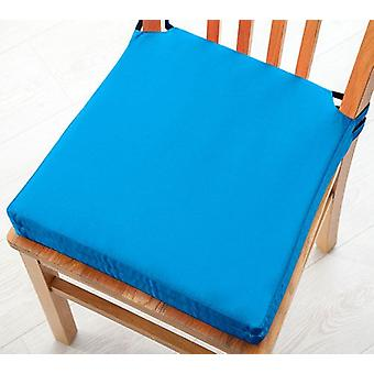 Turquoise 2pk Seat Pad Cushions with Secure Fastening Dining Kitchen Chairs Soft Cotton Twill