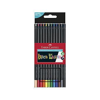 فابر كاستيل الأسود طبعة أقلام الرصاص الملونة (12pcs) (FC-116412)