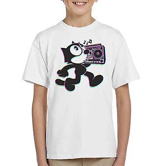 Hip Hop Felix die Katze 3D Kid's T-Shirt