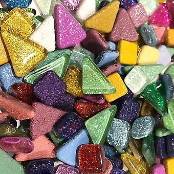 Värikäs glitter kiiltävä käsityömateriaali lasi- mosaiikkilaatat