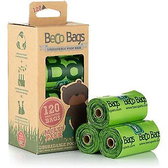 Beco unscented biologisch abbaubare Poop Taschen - 120 Taschen