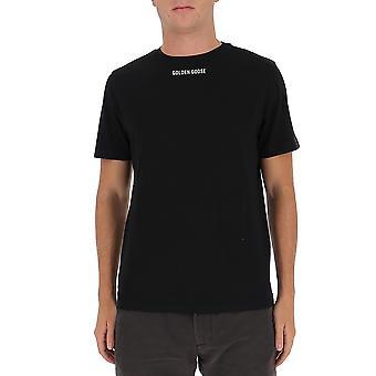 Golden Goose Gmp00460p00029290212 Men's Svart bomull T-shirt