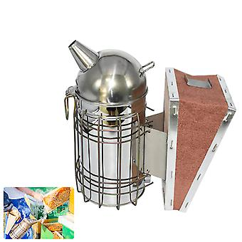 Beekeeping Smoker Stainless Steel Equipment, Bee Manual Smoke Maker With