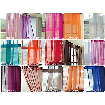 Curtains For Living Room - Window Screening Solid Door Curtains, Drape Panel