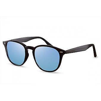 Sunglasses Unisex Panto Cat.3 black/blue (CWI1550)