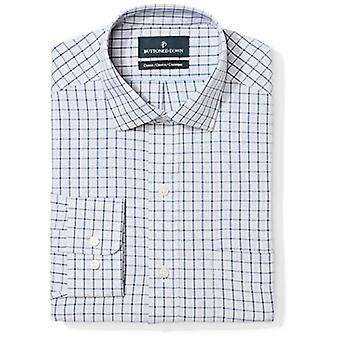 BUTTONED DOWN Men's Classic Fit Spread Collar Pattern Non-Iron Dress Shirt, G...