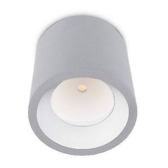 LED 1 Superfície clara ao ar livre Montado Teto Cinza IP65