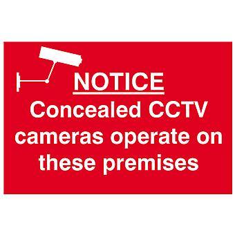 V těchto prostorách fungují skryté cctv kamery - PVC 300x200mm